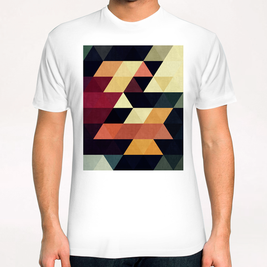 Pattern cosmic triangles T-Shirt by Vitor Costa