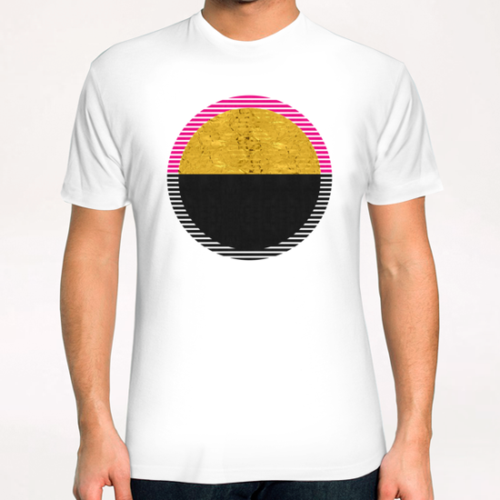 Geometric and golden art T-Shirt by Vitor Costa
