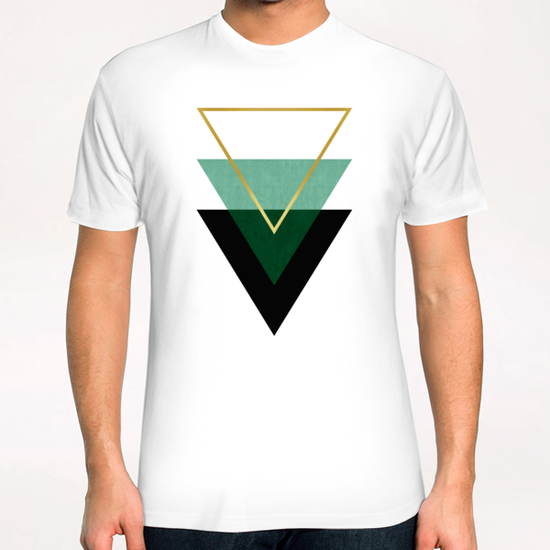 Geometric and golden art I T-Shirt by Vitor Costa
