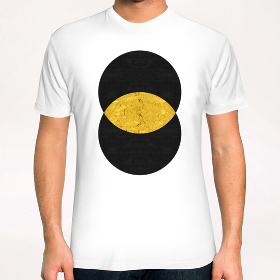 Geometric and golden art II T-Shirt by Vitor Costa