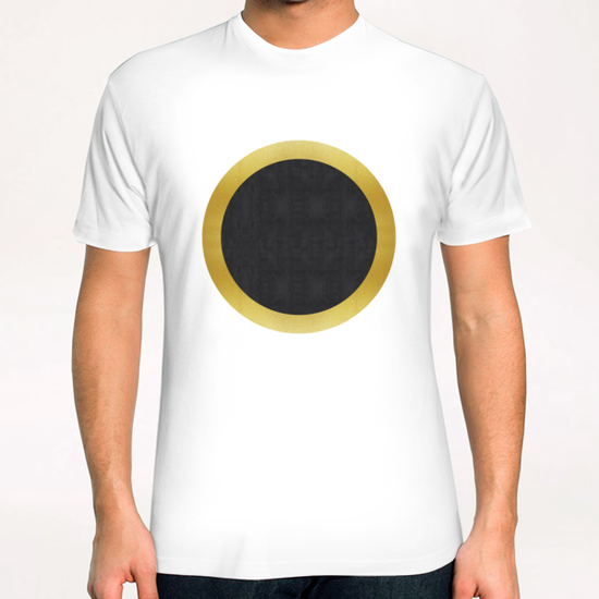 Geometric and golden art III T-Shirt by Vitor Costa