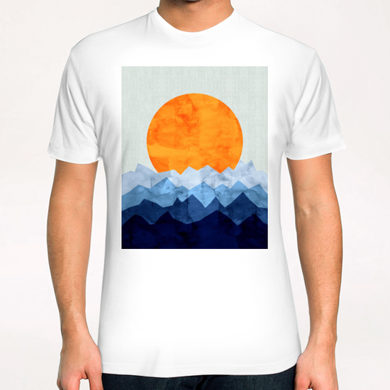 Watercolor landscape geometrica T-Shirt by Vitor Costa