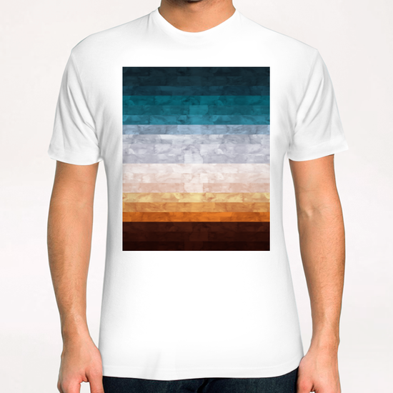 Minimalist landscape watercolor T-Shirt by Vitor Costa