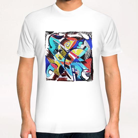 Construction rouge et bleue T-Shirt by Denis Chobelet