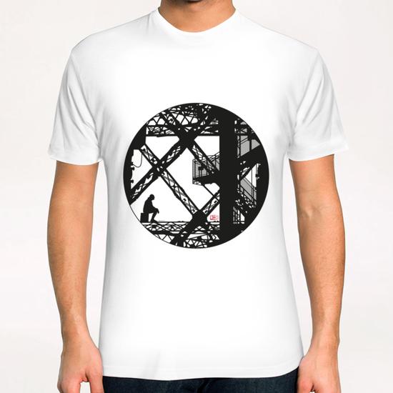 Eiffel tower #4 T-Shirt by Denis Chobelet