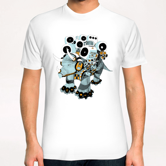 Audiosaurio T-Shirt by electrobudista