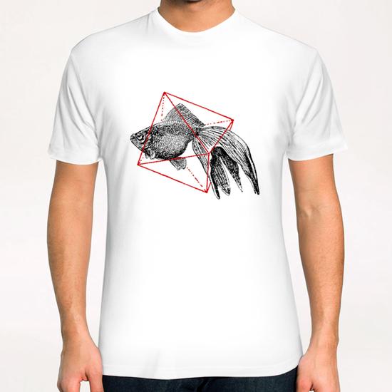 Fish In Geometrics III T-Shirt by Florent Bodart - Speakerine