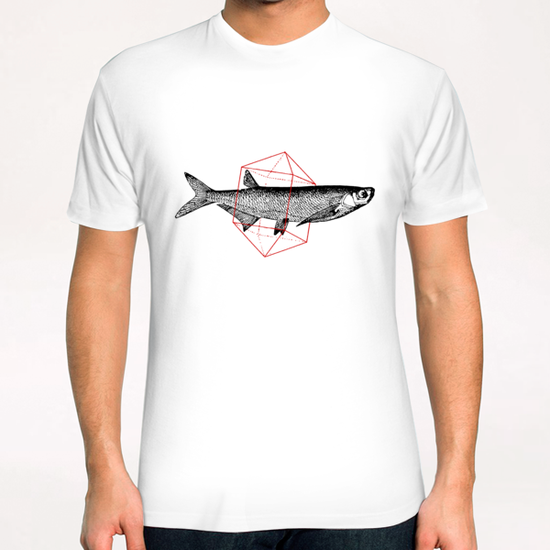 Fish In Geometrics II T-Shirt by Florent Bodart - Speakerine