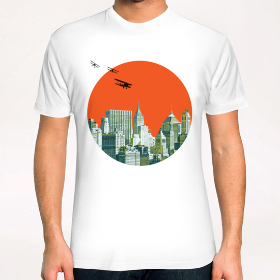 Red sun on NY T-Shirt by tzigone