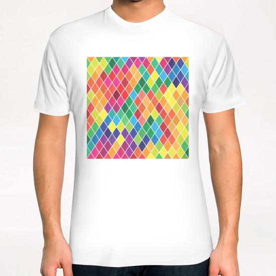 Colorful Geometric  T-Shirt by Amir Faysal