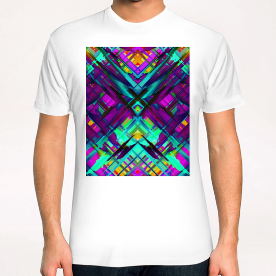 Colorful digital art splashing G472 T-Shirt by MedusArt