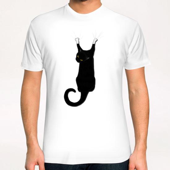 Hang Cat T-Shirt by Tummeow