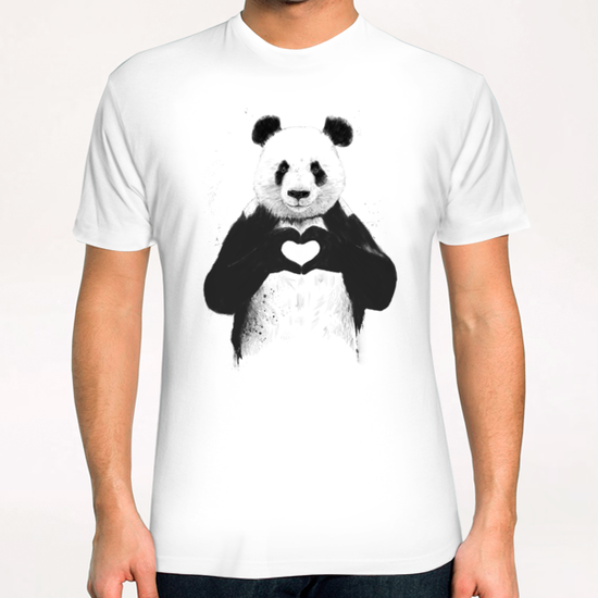 All you need is love T-Shirt by Balazs Solti
