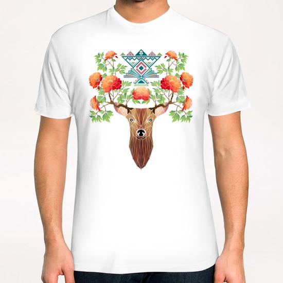 deer flowers T-Shirt by Manoou