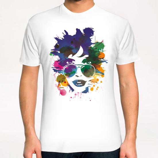 Femme à Lunettes... T-Shirt by Vic Storia