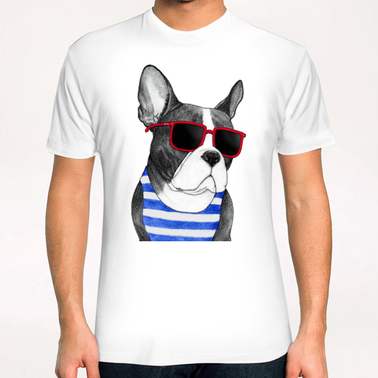Frenchie Summer Style T-Shirt by Barruf