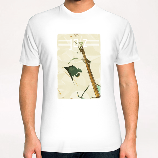 Contrabassist. Jazz Club Poster T-Shirt by cinema4design