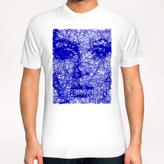 Blue Portray T-Shirt by Vic Storia