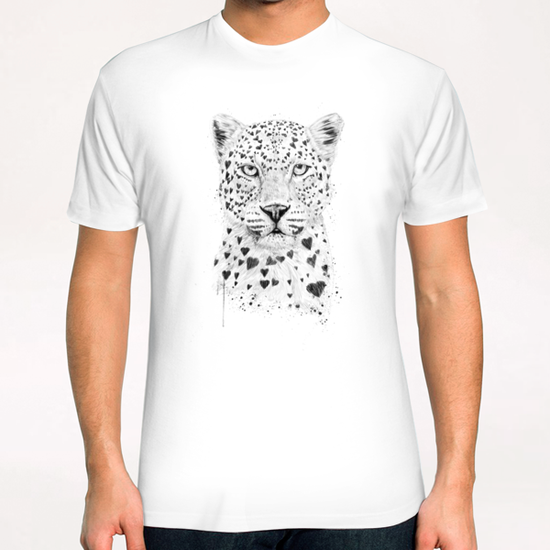 Lovely leopard T-Shirt by Balazs Solti