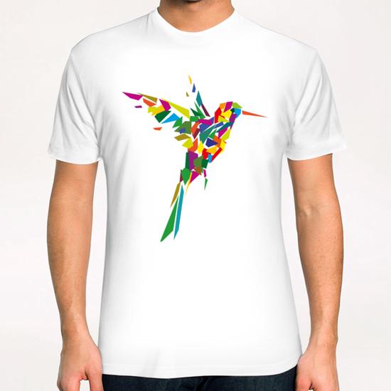 Rainbow Fly-Bird T-Shirt by Alex Xela