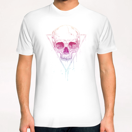 Skull in triangle T-Shirt by Balazs Solti